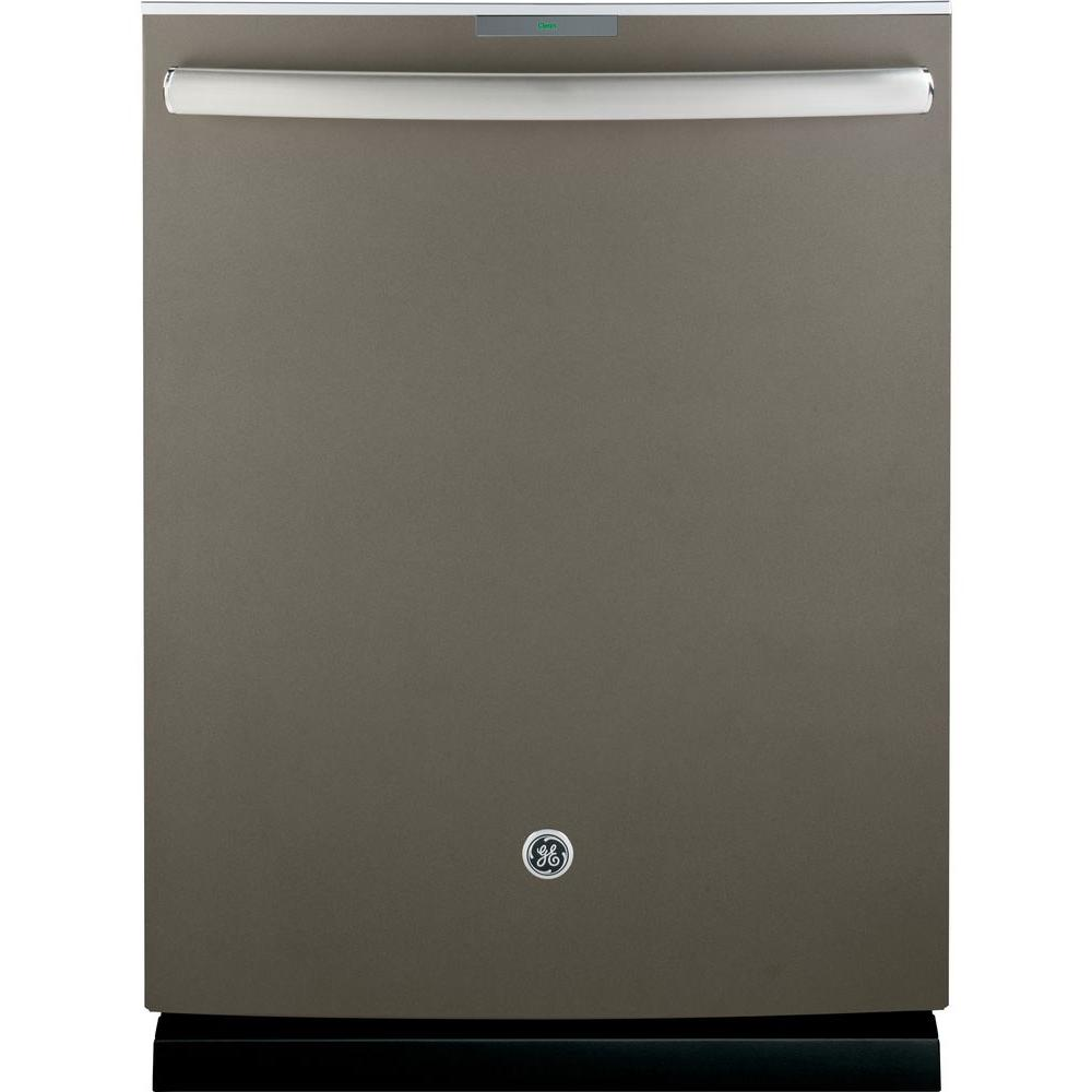 GE Profile Top Control Dishwasher in Slate with Stainless Steel Tub