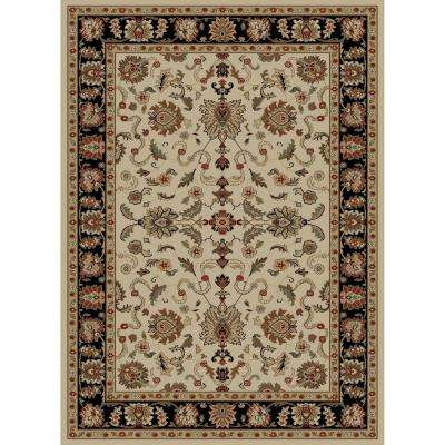 Ankara Agra Ivory 3 ft. 11 in. x 5 ft. 5 in. Area Rug