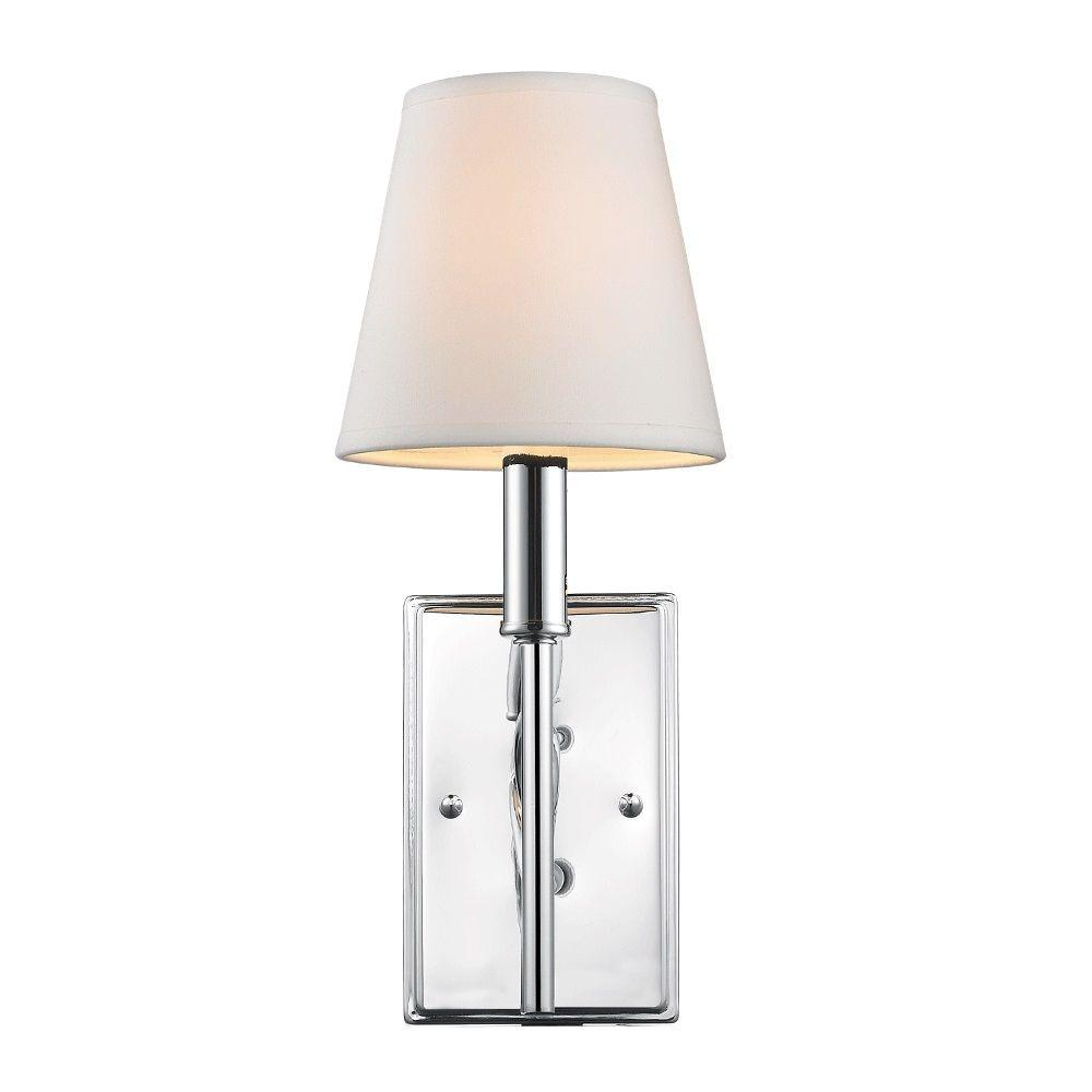 null Leyden Collection 1-Light Chrome Sconce