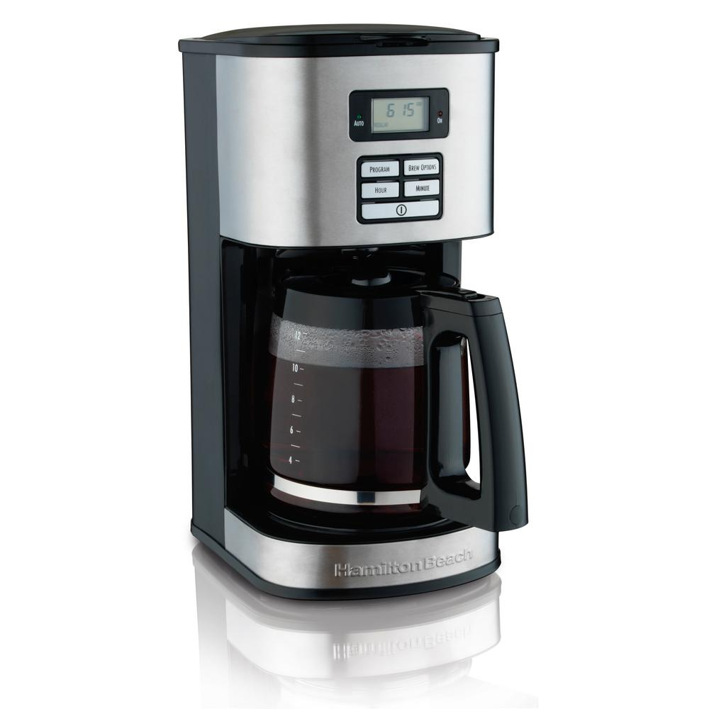 programmable coffee maker hamilton 12 cup programmable coffeemaker 49618 the 31084