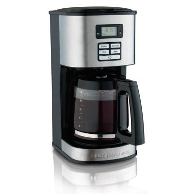 12-Cup Black Programmable Coffee Maker with Automatic Shut-Off