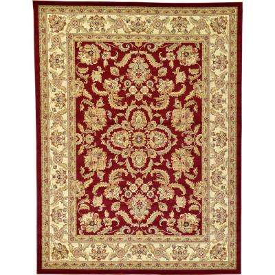 Agra Red 9 ft. x 12 ft. Area Rug