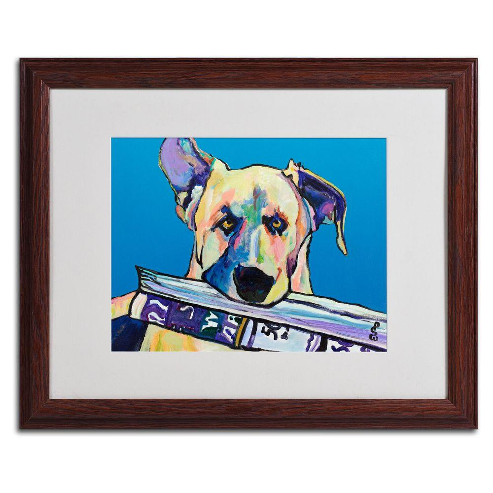 16 in. x 20 in. Daily Duty Matted Framed Wall Art