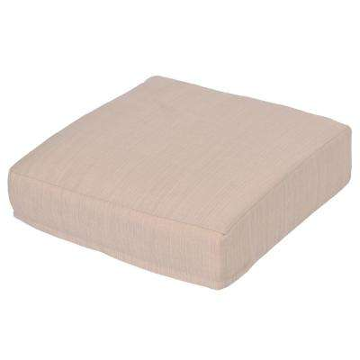 Oak Cliff Oatmeal Replacement Outdoor Ottoman Cushion