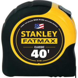 Deals on Stanley 40 ft. FATMAX Tape Measure 33-740L