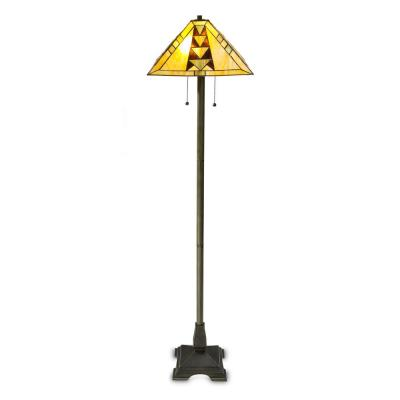 Tiffany Mission 58 in. Bronze Floor Lamp