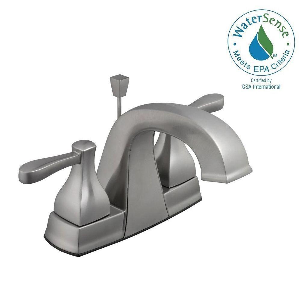 Milner 4 in. Centerset 2-Handle High-Arc Bathroom Faucet in Brushed Nickel