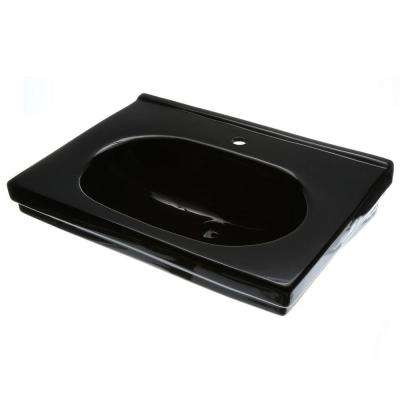 Structure Suite 20-5/80 in. Pedestal Sink Basin in Black