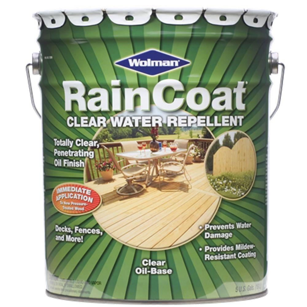 RainCoat Clear 5-gal. Oil-Based Water Repellent for Decks and Fences-DISCONTINUED
