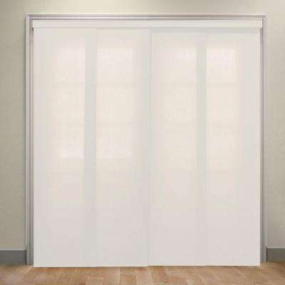 Deluxe Adjustable Sliding Panel / Cut to Length, Curtain Drape Vertical Blind, Light Filtering, Privacy - Allure Powder