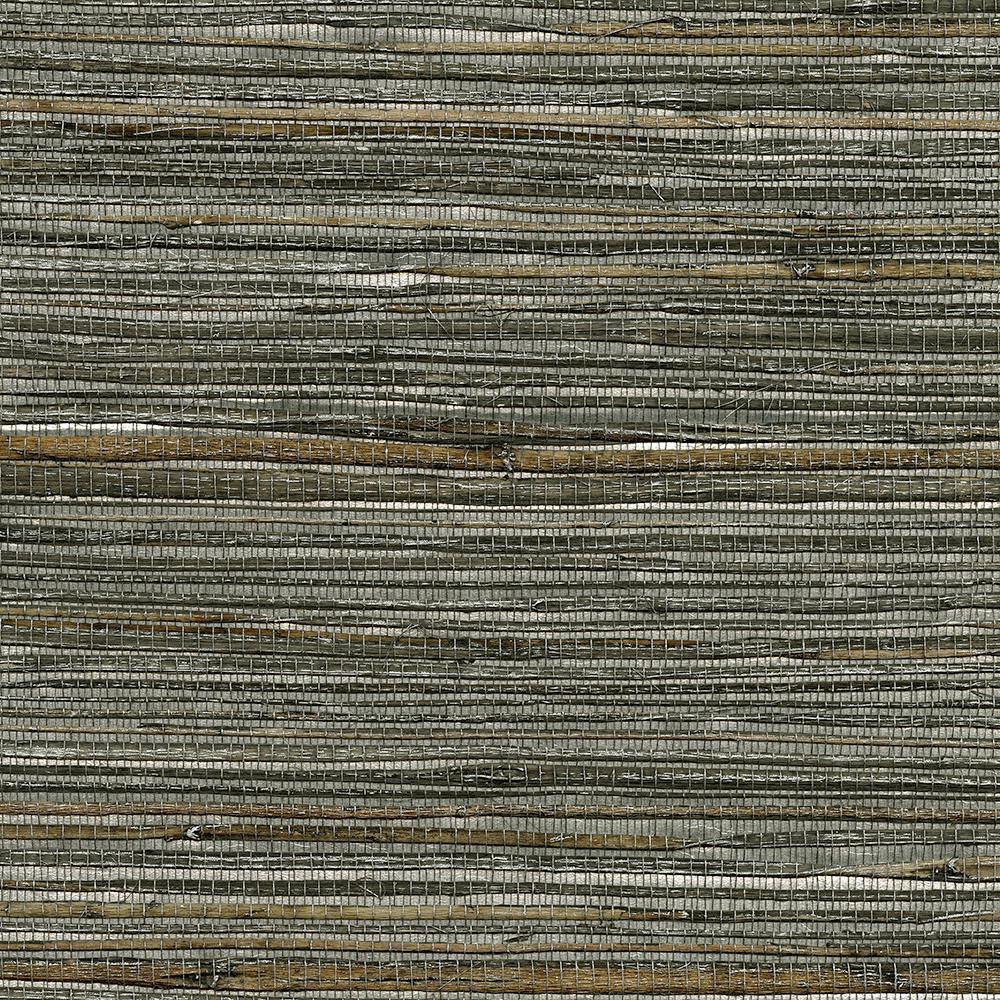 8 in. x 10 in. Fujian Silver Grass Cloth Wallpaper Sample