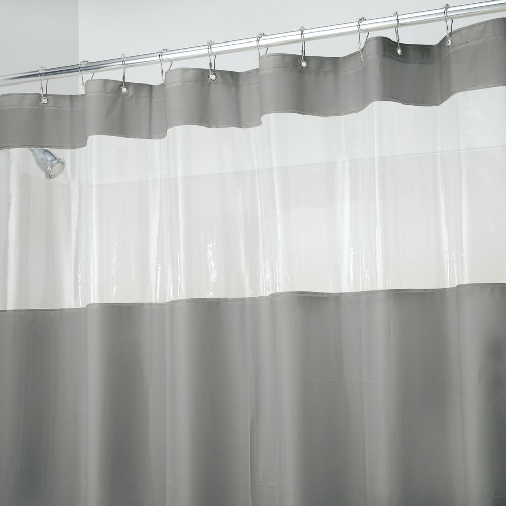 Gray Hitchcock PEVA Shower Curtain