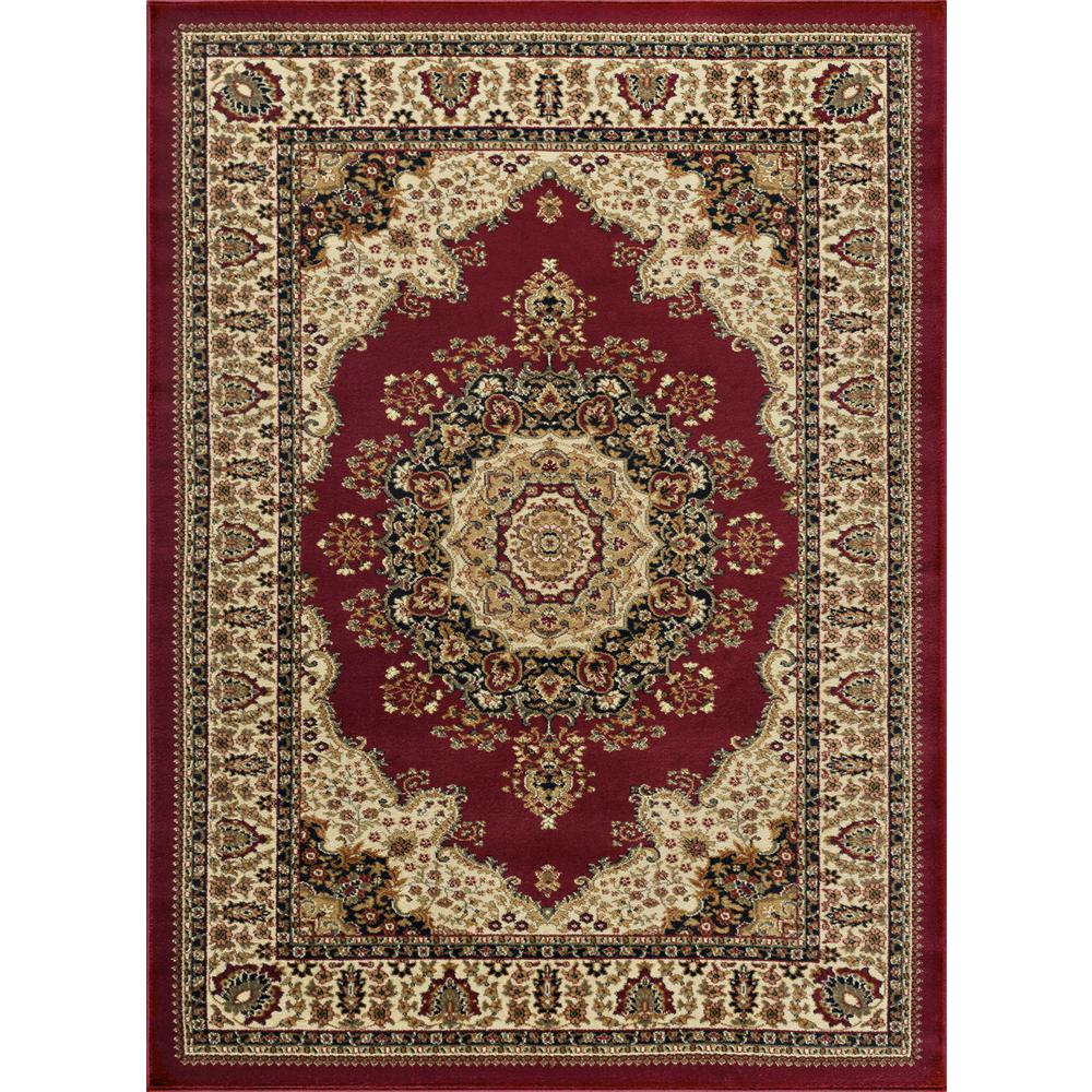 Tayse Rugs Sensation Red 8 Ft. 9 In. X 12 Ft. 3 In