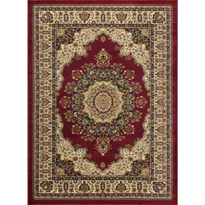 Sensation Red 8 ft. 9 in. x 12 ft. 3 in. Traditional Area Rug