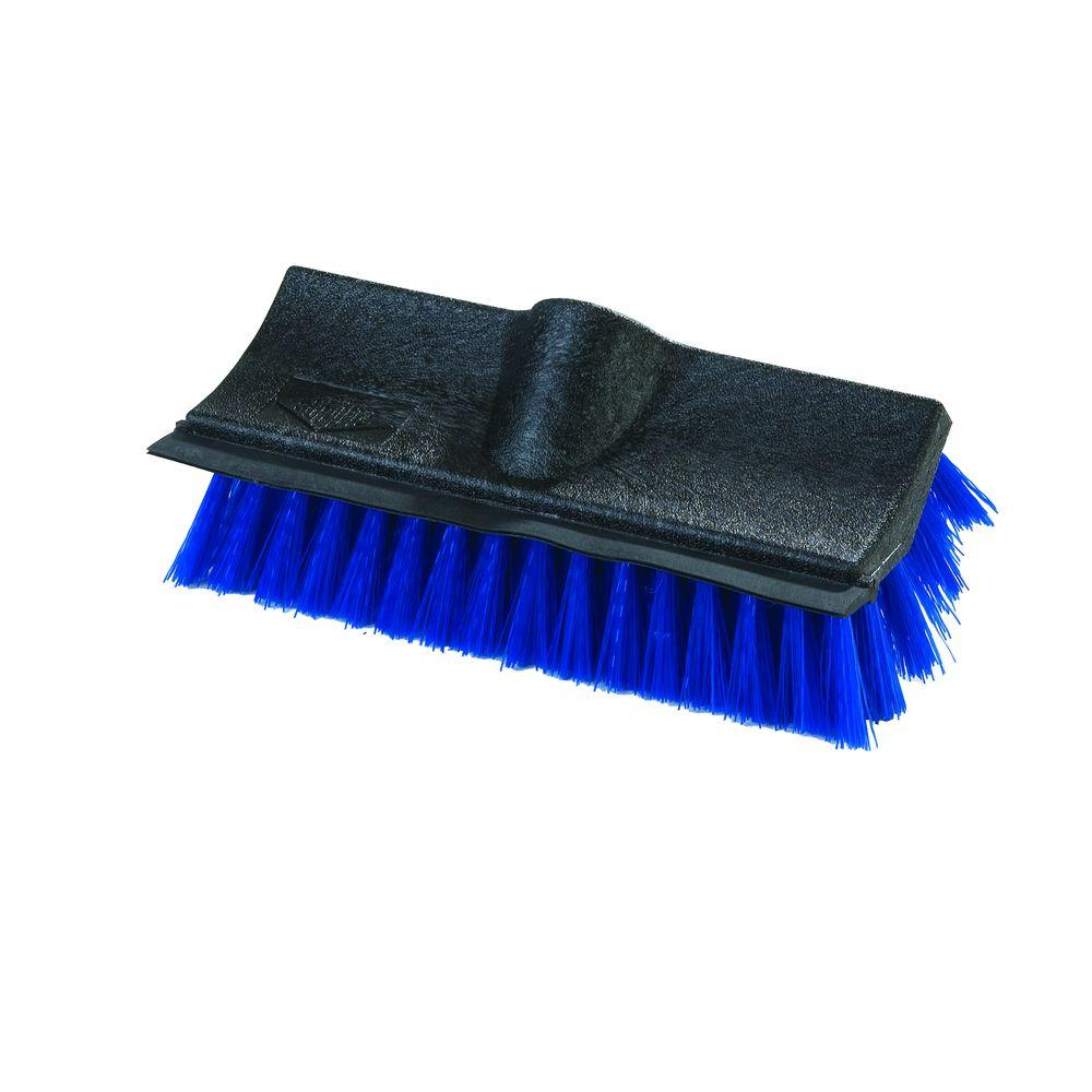 Carlisle 10 in. Dual Surface Polypropylene Scrub Brush with Polypropylene Squeegee (Case of 12)