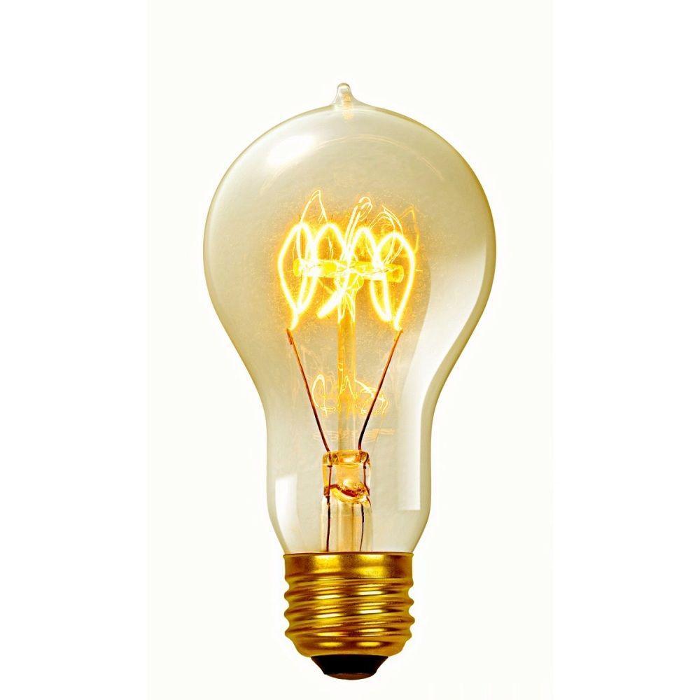 Globe Electric 60-Watt Incandescent A19 Vintage Quad Loop Medium Base Light Bulb