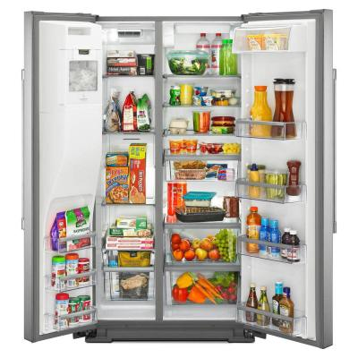 21 cu. ft. Side by Side Refrigerator in Fingerprint Resistant Stainless Steel, Counter Depth