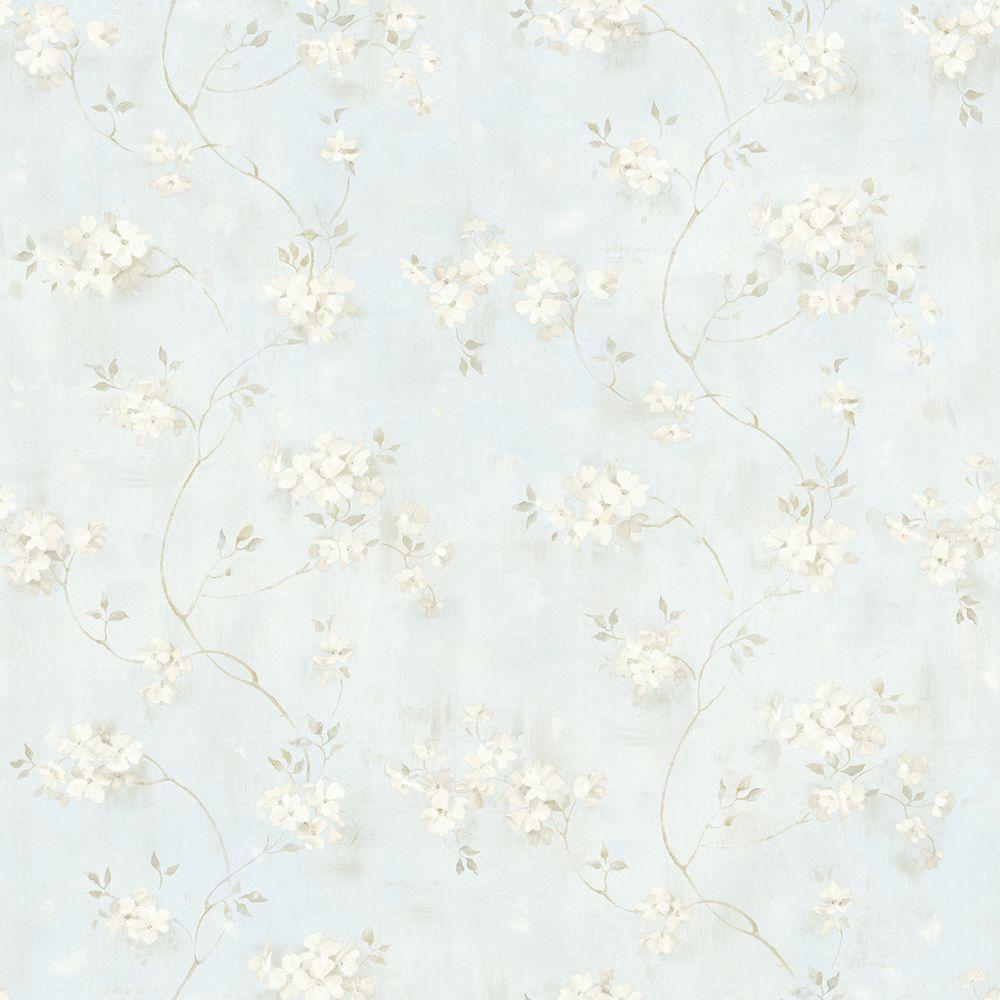 Chesapeake Rosemoor Blue Country Floral Wallpaper MEA44107