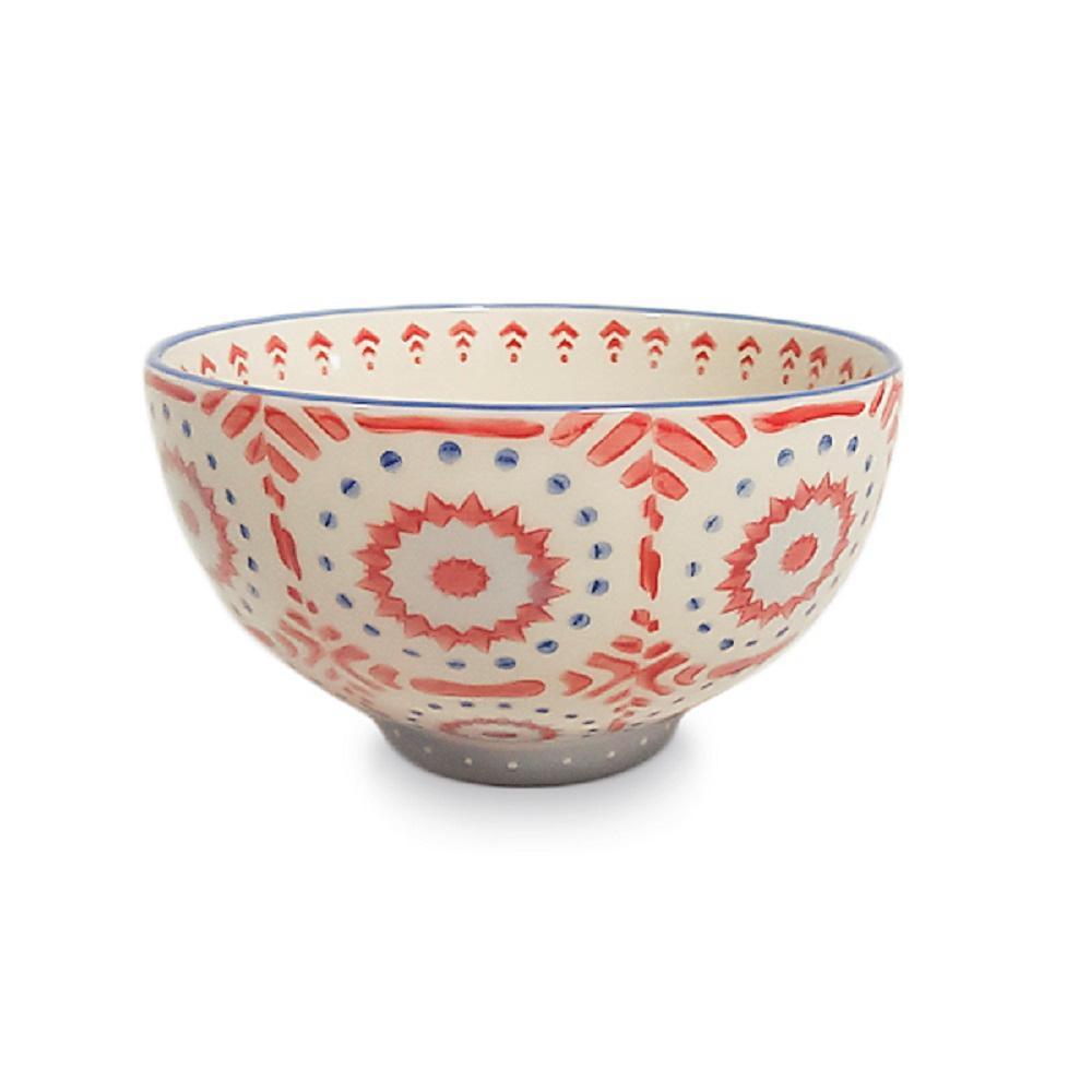 6 in. Global Pedestal Marsala Ceramic Low Bowl Planter