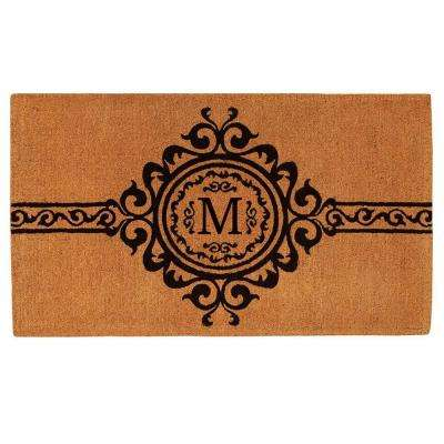 Garbo Monogram Door Mat, Extra-Thick 36 in. x 72 in. (Letter M)