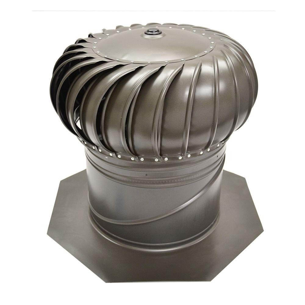 galvanized internally braced dual bearing wind turbine in weathered wood - Roof Turbine