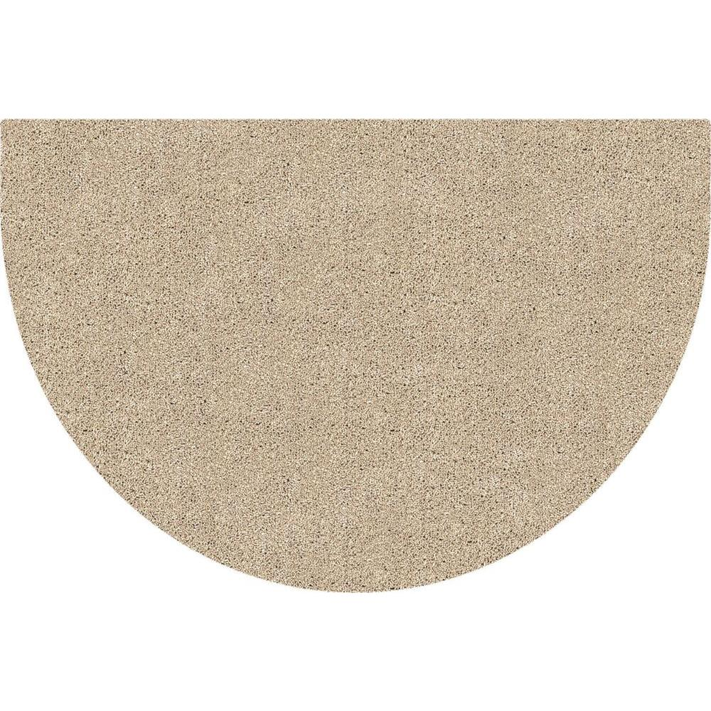 DirtStopper Brown and White 24 in. x 39 in. Half Round