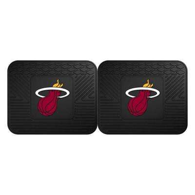 NBA Miami Heat Black Heavy Duty 2-Piece 14 in. x 17 in. Vinyl Utility Mat