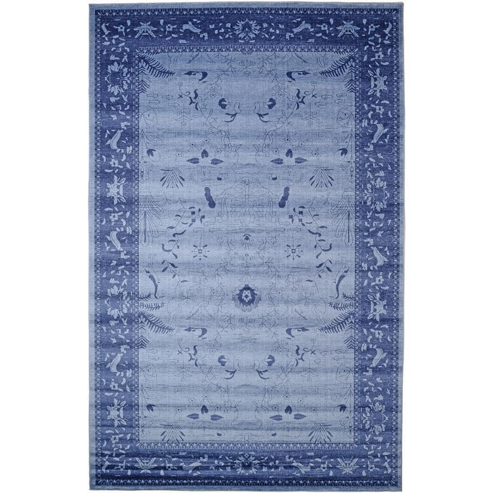 La Jolla Floral Blue 10' 6 x 16' 5 Area Rug