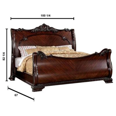 Bellefonte Cal.King Bed in Brown Cherry