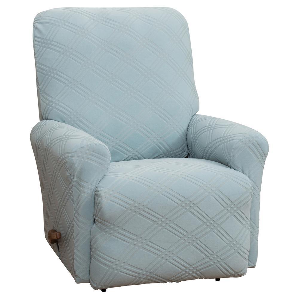 Awesome Stretch Sensations Stretch Double Diamond Spa Blue Recliner Creativecarmelina Interior Chair Design Creativecarmelinacom