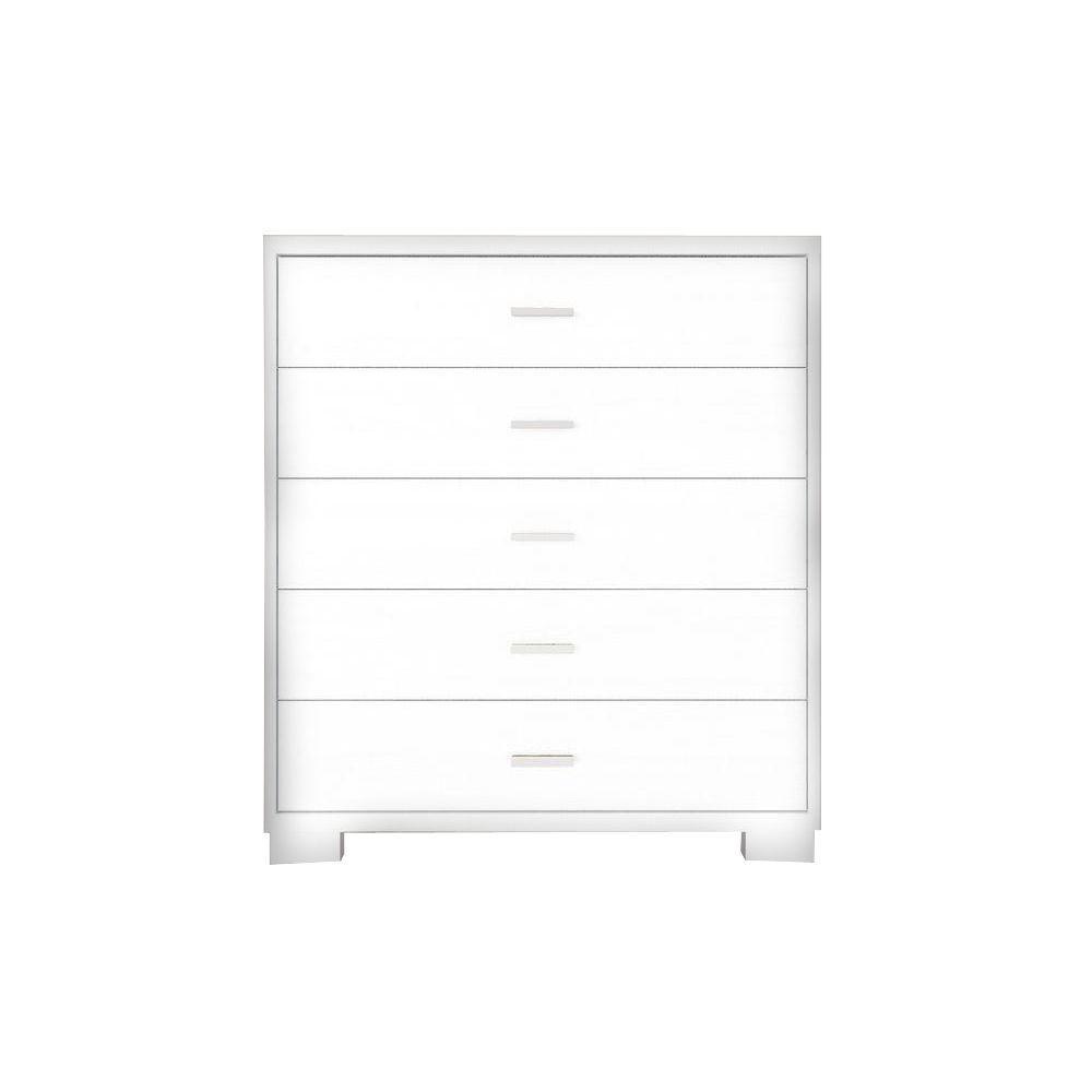 Manhattan Comfort Astor 5-Drawer White Gloss Chest-60684
