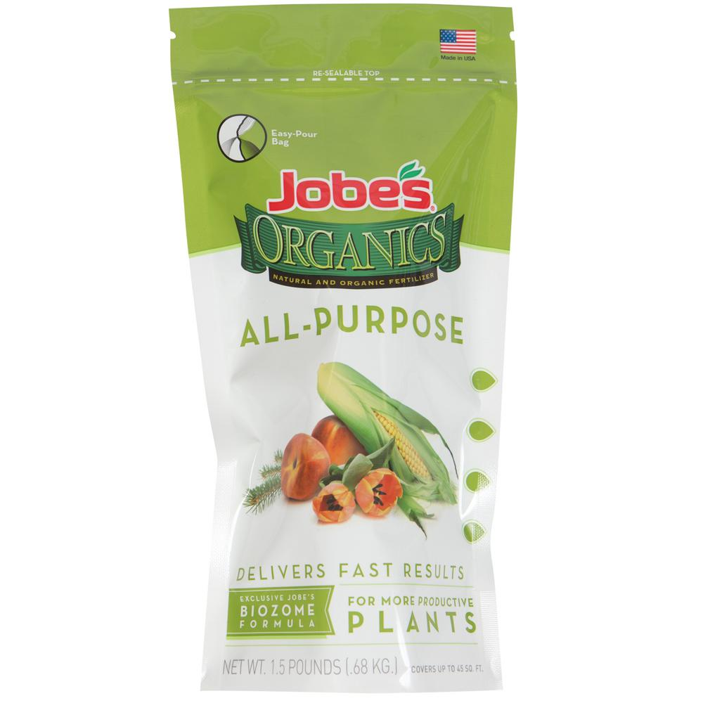 1.5 lb. Organic Granular All-Purpose Fertilizer with Biozome, OMRI Listed