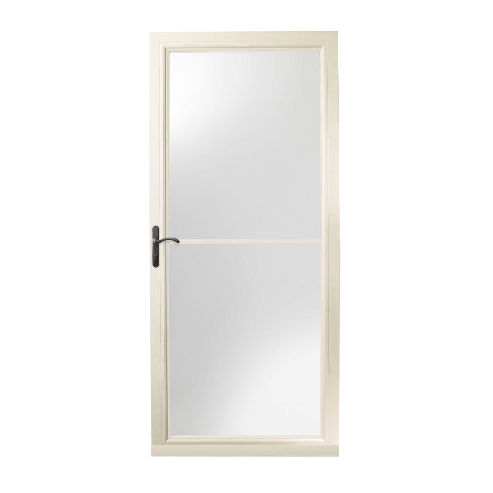 This Review Is From:36 In. X 80 In. 3000 Series Almond Left Hand  Self Storing Easy Install Storm Door With Oil Rubbed Bronze Hardware