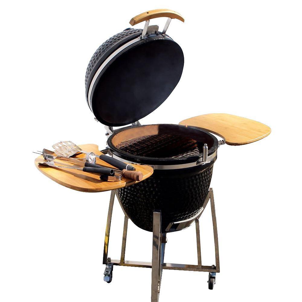 Nieuw Cal Flame 21 in. Kamado Smoker Grill-BBQ15K21 - The Home Depot QB-91
