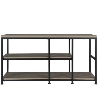 Montgomery 47 in. Rustic Oak Particle Board TV Stand Fits TVs Up to 55 in. with Cable Management