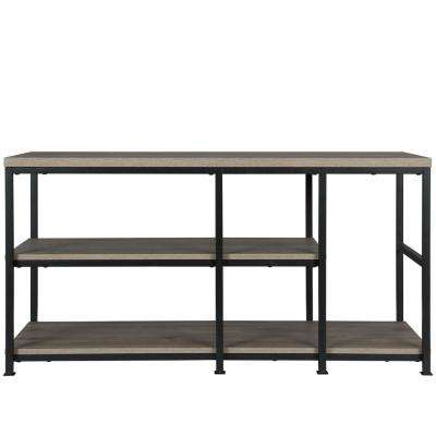 55 in. Montgomery Rustic Oak TV Stand