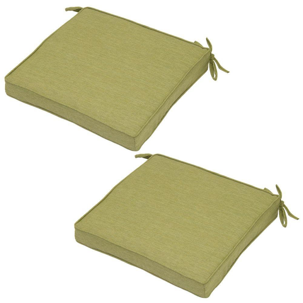 Luxe Solid Deluxe Square Outdoor Seat Cushion (2-Pack)