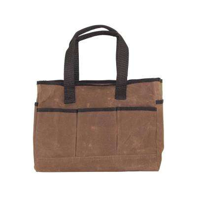 Waxed Canvas Khaki Utility Tote Bag