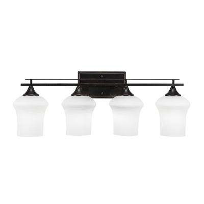 4-Light Dark Granite Bath Light