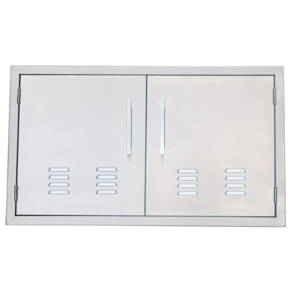 304 Stainless Steel Double Access Door With Vents
