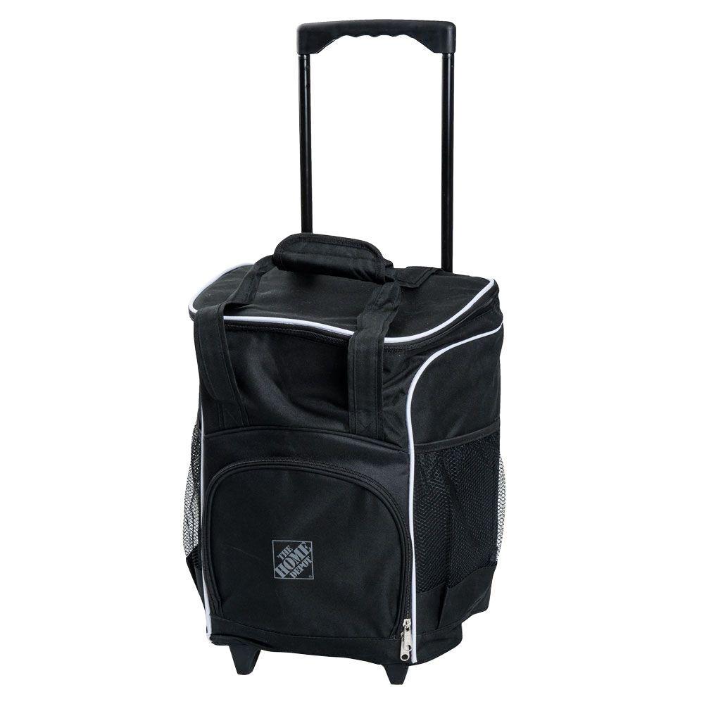 48 Can Rolling Cooler Bag Black