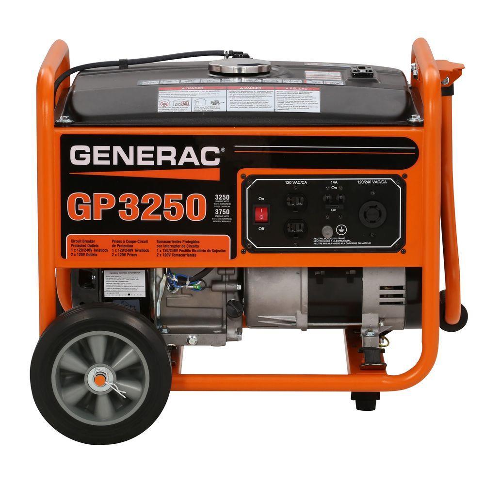 3,250-Watt Gasoline Powered Portable Generator