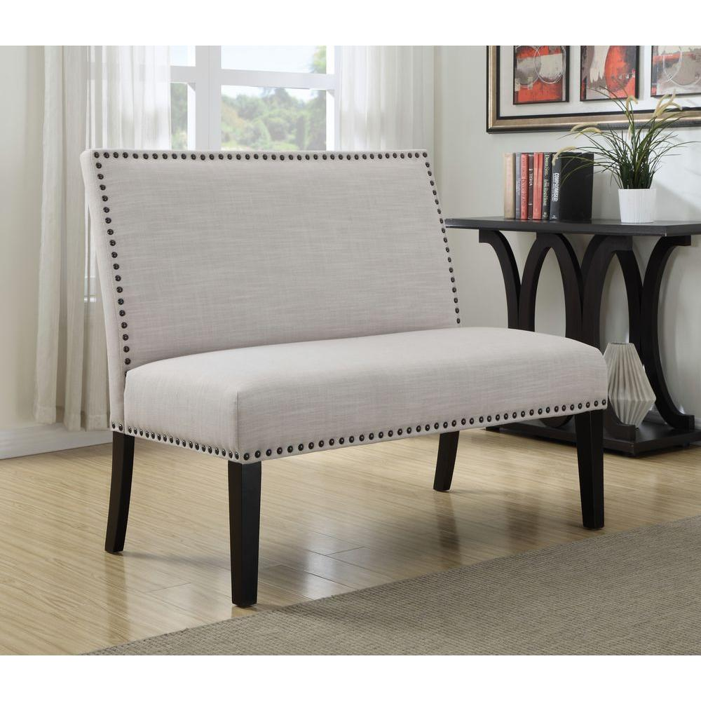 Dining Room Bench With Storage: PRI Banquette Cream Bench-DS-2183-400-1
