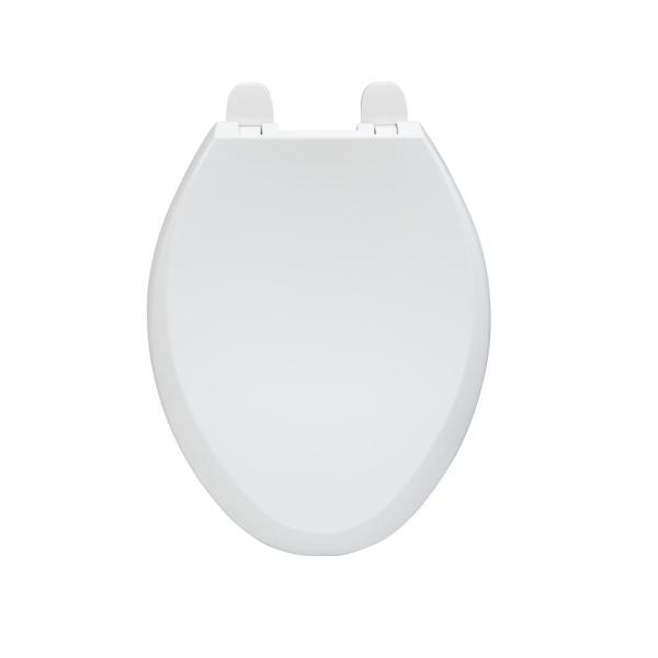Glacier Bay Elongated Slow Closed Front Toilet Seat With Quick Release Hinges In White Tspe0513 Wh The Home Depot