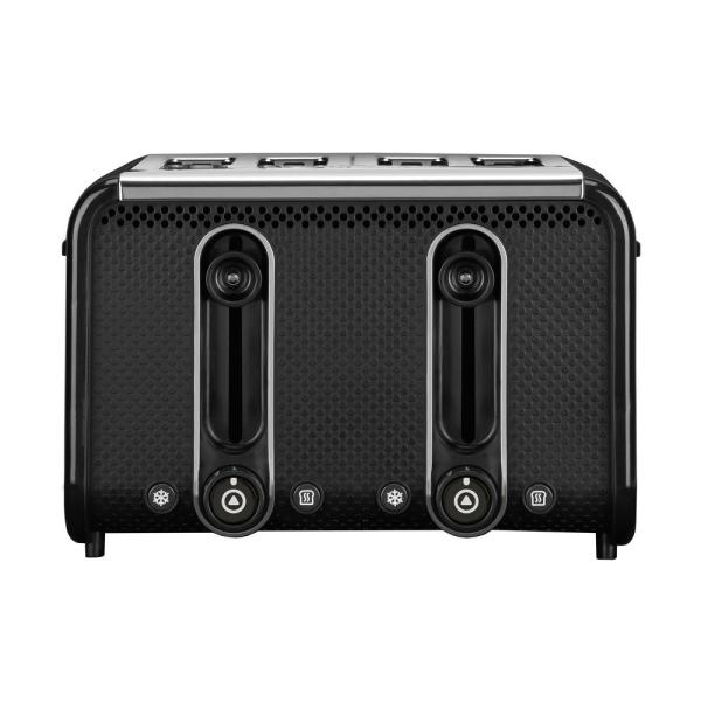 Studio 4-Slice Black Toaster with Crumb Tray