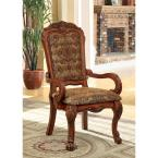 Medieve Antique Oak Traditional Style Arm Chair
