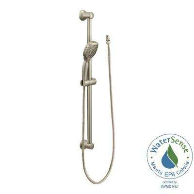 Twist 4-Spray Handheld Handshower with Slide Bar in Brushed Nickel