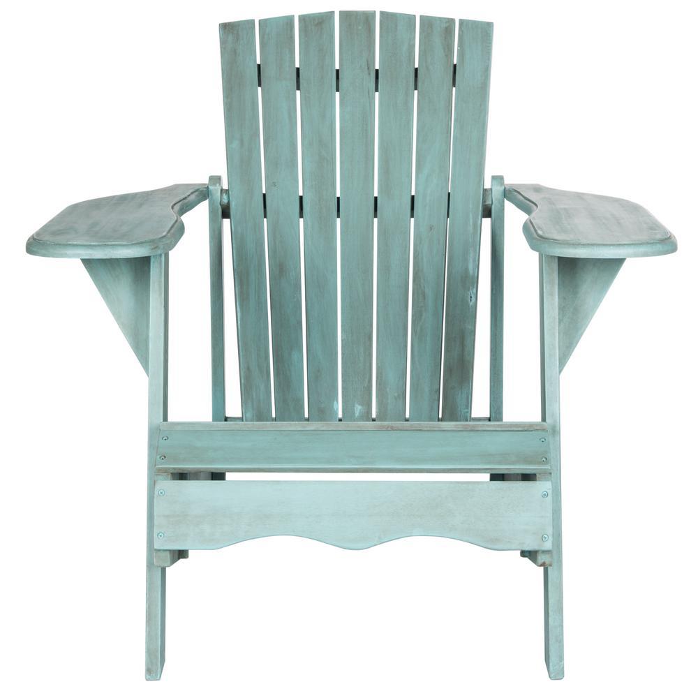Mopani Beach House Blue Wood Adirondack Chair