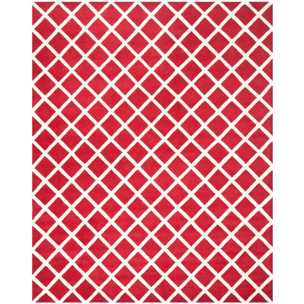 Safavieh Chatham Red/Ivory 8 ft. x 10 ft. Area Rug