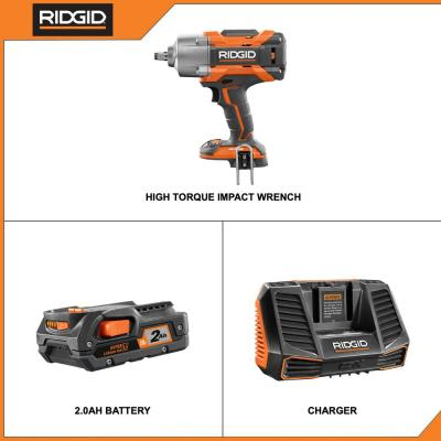 18-Volt OCTANE Cordless Brushless 1/2 in. High Torque 6-Mode Impact Wrench with Belt Clip, 2.0 Ah Battery & Charger Kit